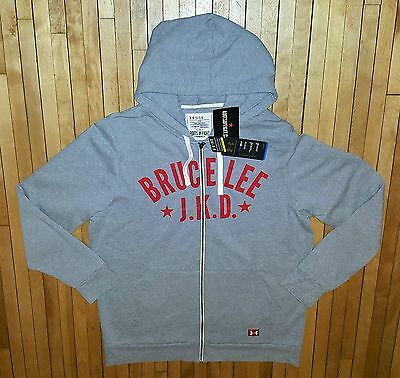 UNDER ARMOUR RootsOfFight Bruce Lee THROWBACK FLEECE FULL-ZIP HOODIE NWT Sz LG