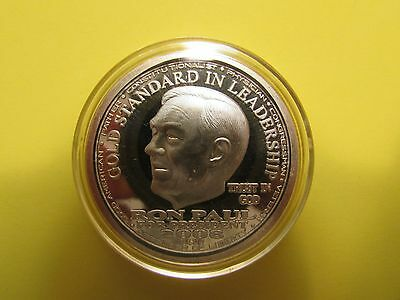 2008 NORFED Liberty RON PAUL 1oz .999 Fine Silver Round