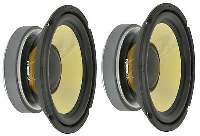 "2 X Qtx High Power 6.5"" Woofers With Aramid Fibre Cone 250W 902.423 Bass Drivers"