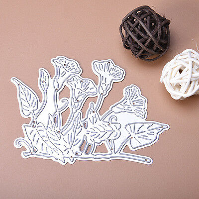 New Morning Glory Metal Dies Cutting Stencil For Scrapbooking Paper Cards Decor