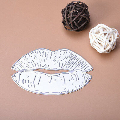 Lips Dies Metal Cutting Stencil For DIY Scrapbooking Paper Cards Decor Gift