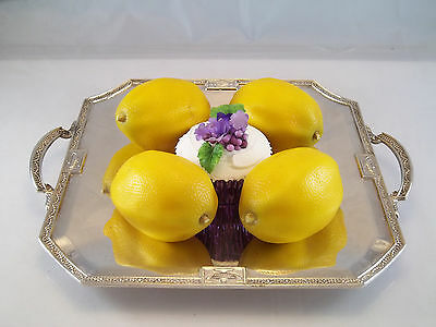 Art Deco Octagonal Sandwich Tray Silver Plate Platter Urns Swags Lbs Company