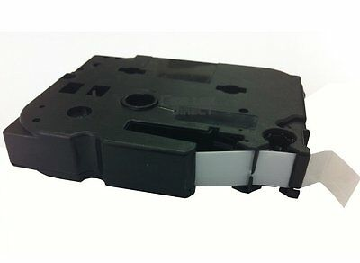 Compatible TZ231 TZe231 Label Tape 12mm Black on White Brother P-Touch Printers