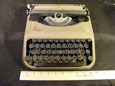 Antique Corona Zephyr Portable Typewriter with Cover WORKING