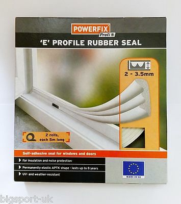 10M Weatherstrip Rubber Seal Profile 'E' gasket Window Strip Roll Insulate EU