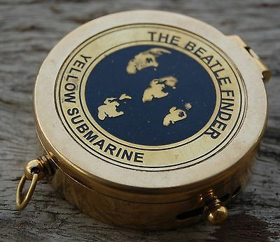 """Vintage Maritime Antique Style Brass 2"""" Flat Nautical Camping And Hiking Compass"""