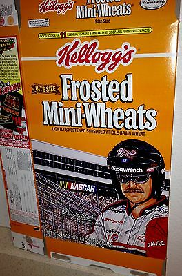 NASCAR Dale Earnhardt Kellogg's Frosted Mini-Wheats Cereal Box : Empty