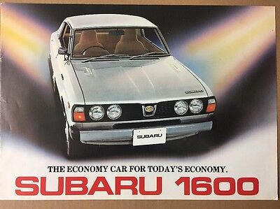 Car Brochure - 1978 Subaru 1600 - Japan Export