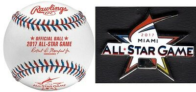 2017 All Star Game Baseball Official Rawlings Boxed With Limited Edition Mlb Pin