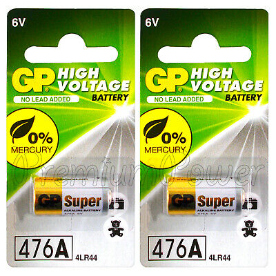 2 x GP 476A Alkaline Super batteries 6V 4LR44 A544 V4034PX 28A 4G13 Pack of 1