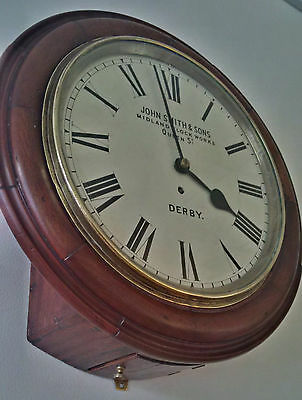 """A Superb Antique 12"""" Fusee Dial clock by John Smiths of Derby.  GWO."""