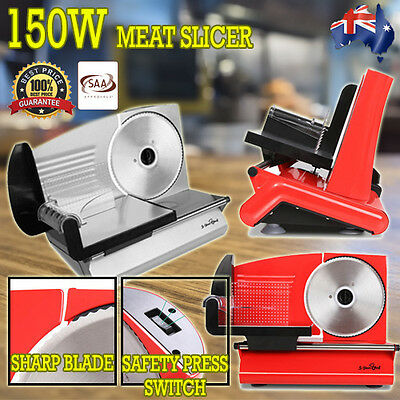 NEW 150W Commercial Deli Meat Cutter Slicer with Stainless Steel Blade