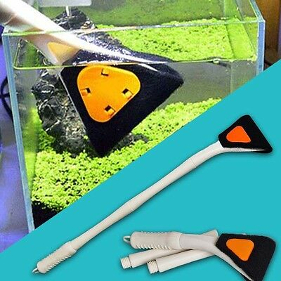 Fish Tank Aquarium Glass Long Handle Brush Cleaning Tool Fishnet Cleaner Supply