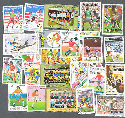 Football-100 all different stamp packet collection