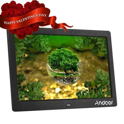 """Andoer 10"""" HD Digital Photo Picture Frame Black US with Remote Control Hot"""