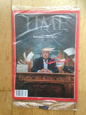 TIME Magazine February 27/ March 6, 2017 Nothing To See Here (Trump) Unopened