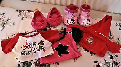 Build a Bear shoes and tops