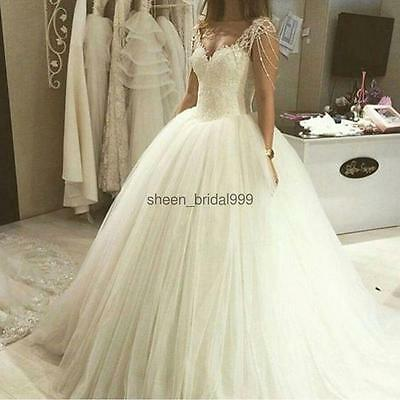 New White/Ivory Wedding Dresses Bride Dress Gown Size 6 8 10 12 14 16 ++