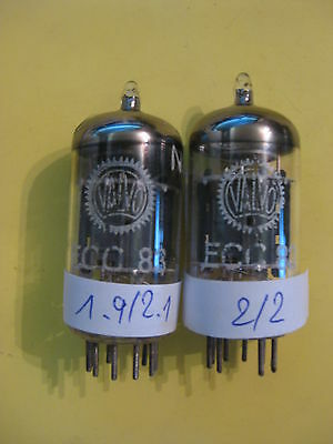 matched pair ECC83 / 12AX7, VALVO, 1st category, see text