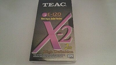 TEAC BLANK VHS VIDEO TAPE Factory Sealed TEAC E 120 2hr HD AS NEW