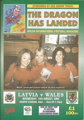 LATVIA v WALES  2004 Dragon Has Landed issue