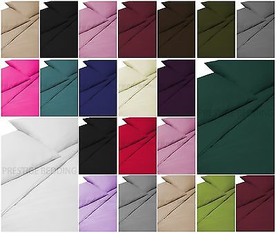 300 Thread Count 2 x Housewife Pillow Case Luxury 100% Egyptian Cotton Pair Pack