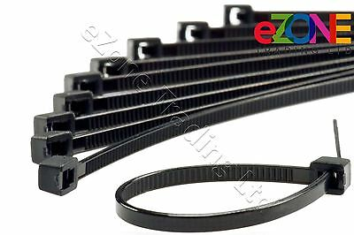 Industrial Quality Cable Zip Ties Black Size 100mm - 370mm Quantity Discounts