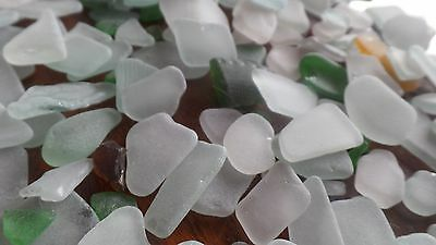 Genuine natural tumbled Sea Glass 400G. small pieces beach aqua frosted jewelery