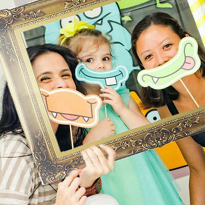 1Pcs Photo Booth Props Antique Paper Frame Large Picture Frame wedding party GN