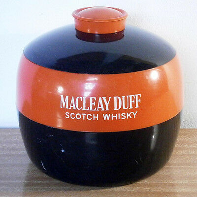 Vintage Red & Black Two-Tone Plastic Macleay Duff Scotch Whisky Ice Bucket