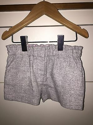 BNWOT Next Baby Girl Tweed Shorts 12-18 Months