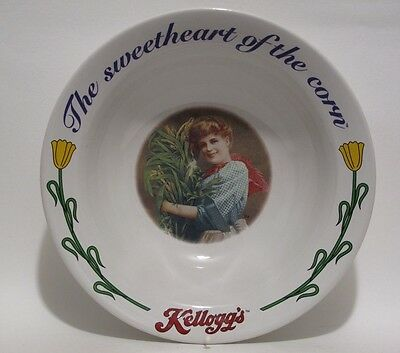 Kellogg's Cereal Bowl 1996 Ceramic USA The Sweetheart of the Corn #3 of 4 Series