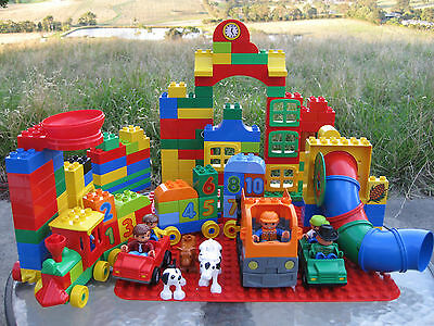 Lego Duplo- Numbers Train, People, Animals, Vehicles, Tubes Fun, Base Plates Etc
