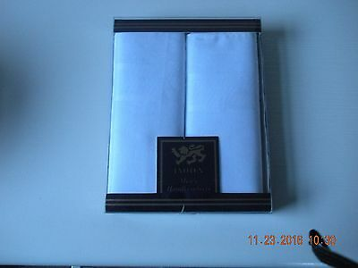 Box Of Two Mens Cotton Handkerchiefs