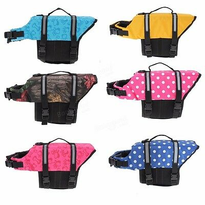 XS - Blue Dot New Pet Dog Puppy Cat Kitten Saver Life Jacket Aquatic Safety