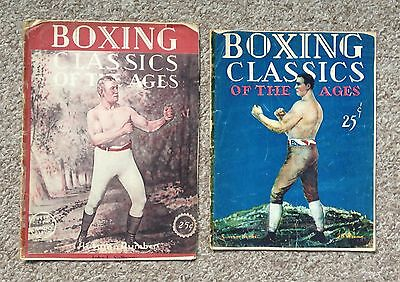 2 Issues - Self Defense Magazine - Boxing Classics of the Ages 1927 & 1928