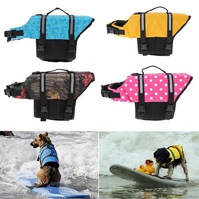 XS - Yellow Pet Dog Puppy Cat Kitten Saver Life Jacket Aquatic Safety Night