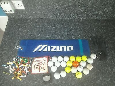 Lot of golfing accessories