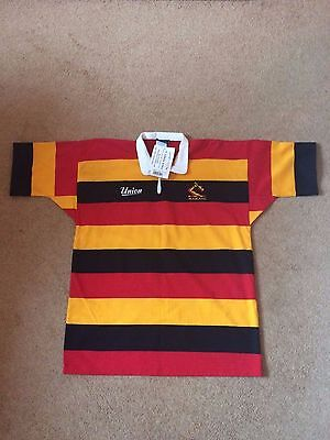 Mens Vintage New Zealand Rugby Union Striped Shirt, Large