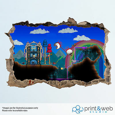 Terraria Wall Smash Decal Sticker 3D Bedroom Vinyl Mural Art