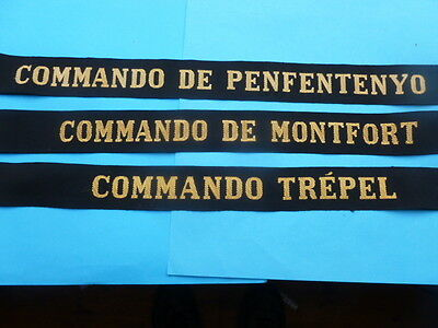 Selection Of French Commando Cap Tallies
