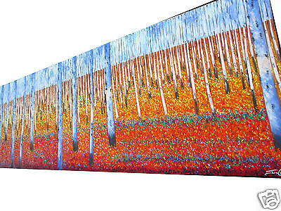Bush Scrub Very Huge Big Aboriginal Art Oil Painting Aussie Landscape  By Jane