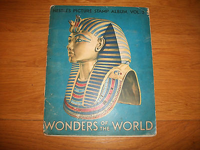 1933 Nestle's Picture Stamp Album, Wonders Of The World Advertising Sweet Cards