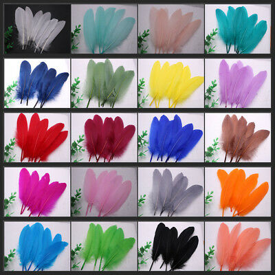 Wholesale! 20-1000pcs Natural goose feather 15-20cm/6-8inches 24 Colors