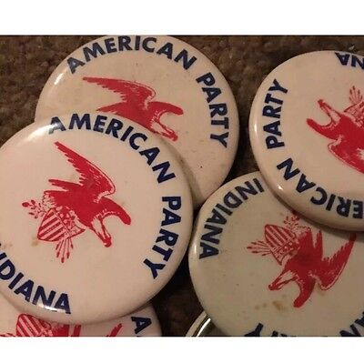 Vintage American Party Of Indiana Button