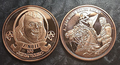 Apocalypse Zombie Franklin & Jackson 1 Oz. Copper Bullion Coins Lot of 2
