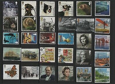 GB Collection of Used 1st Class COMMEMORATIVES 2010-2013