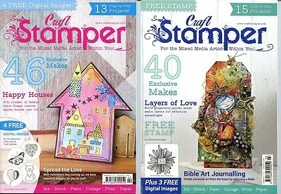 Craft Stamper Magazines x 2 - With Digital Stamps