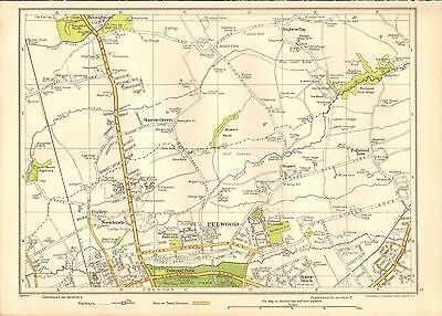 1935 Lancashire Original Map-Fulwood, Broughton, Sharoe Green,