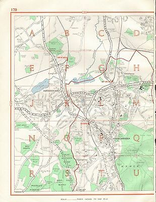 1964  Vintage Street Map - Sevenoaks, Riverhead, Kippington